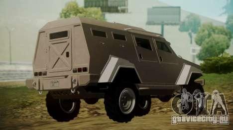 GTA 5 HVY Insurgent для GTA San Andreas вид слева