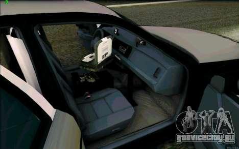 Weathersfield Police Crown Victoria для GTA San Andreas вид сбоку