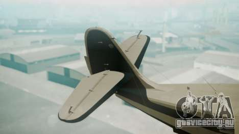 Grumman G-21 Goose Black and White для GTA San Andreas вид сзади слева