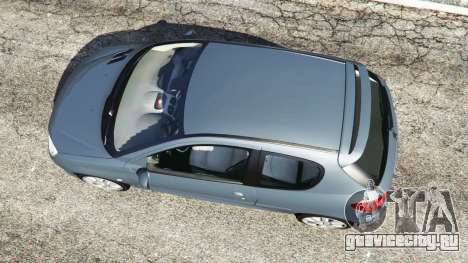 Peugeot 206 GTI для GTA 5 вид сзади