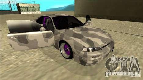 Nissan Silvia S14 Army Drift для GTA San Andreas вид сбоку