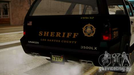 GTA 5 Declasse Granger Sheriff SUV IVF для GTA San Andreas вид сбоку