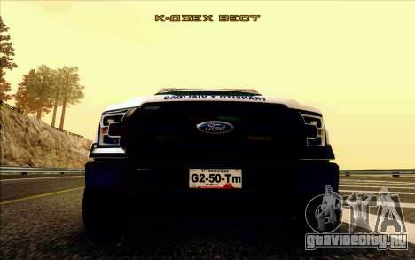 Ford F150 2015 Towtruck для GTA San Andreas вид изнутри