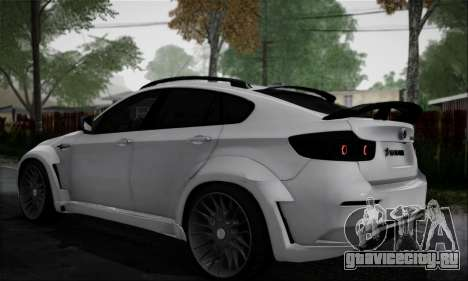 BMW X6M HAMANN Final для GTA San Andreas вид сзади слева