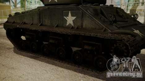 M4A3(76)W HVSS Sherman для GTA San Andreas вид сзади слева