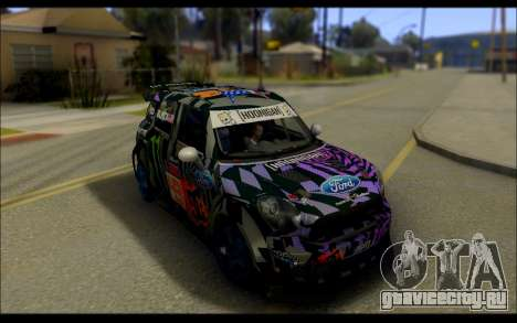 Mini Cooper Gymkhana 6 with Drift Handling для GTA San Andreas вид сзади слева