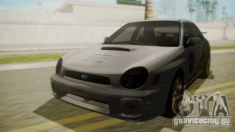 Subaru Impreza WRX GDA для GTA San Andreas вид изнутри
