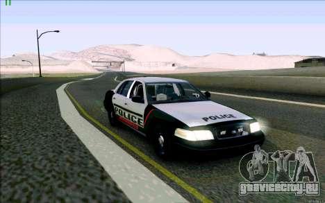 Weathersfield Police Crown Victoria для GTA San Andreas вид слева