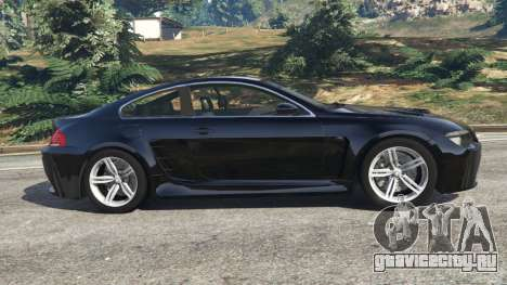 BMW M6 (E63) WideBody v0.1 для GTA 5 вид слева