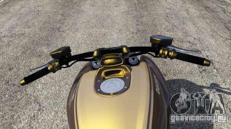 Ducati Diavel Carbon 11 v1.1 для GTA 5 вид сзади справа