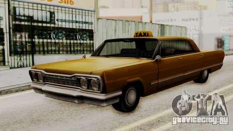 Taxi-Savanna v2 для GTA San Andreas вид сзади слева