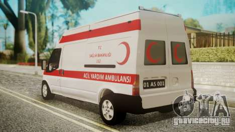 Ford Transit Jumbo Ambulance для GTA San Andreas вид слева