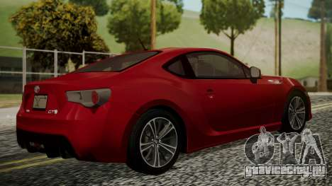 Toyota GT86 2012 LQ для GTA San Andreas вид слева