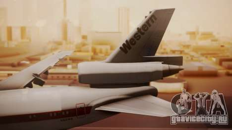 DC-10-10 Western Airlines для GTA San Andreas вид сзади слева