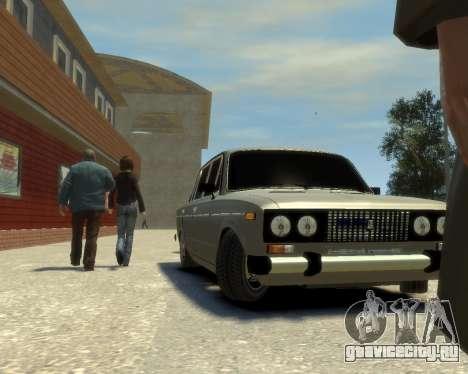 Ваз 2106 Kavkaz Style для GTA 4 вид сзади слева