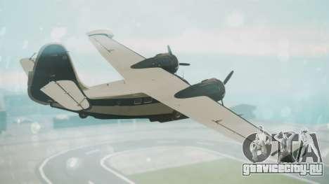 Grumman G-21 Goose Black and White для GTA San Andreas вид слева