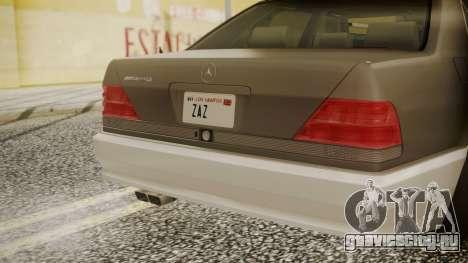 Mercedes-Benz W140 для GTA San Andreas вид сзади