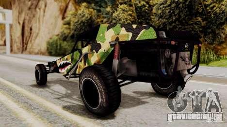 Buggy Camo Shark Mouth для GTA San Andreas вид сзади слева