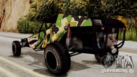 Buggy Camo Shark Mouth для GTA San Andreas вид слева