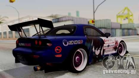 Mazda RX-7 Black Rock Shooter Itasha для GTA San Andreas вид слева
