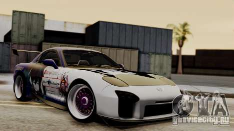 Mazda RX-7 Black Rock Shooter Itasha для GTA San Andreas вид изнутри