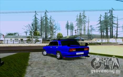 Ваз 2107 Tuning для GTA San Andreas вид сзади слева