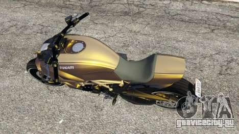 Ducati Diavel Carbon 11 v1.1 для GTA 5 вид сзади