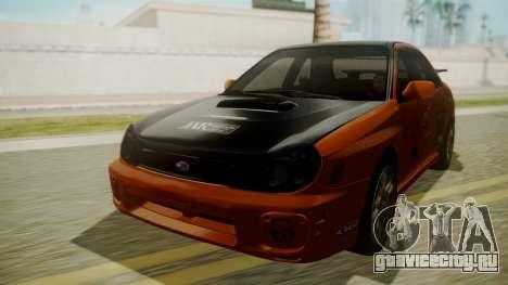 Subaru Impreza WRX GDA для GTA San Andreas вид сбоку