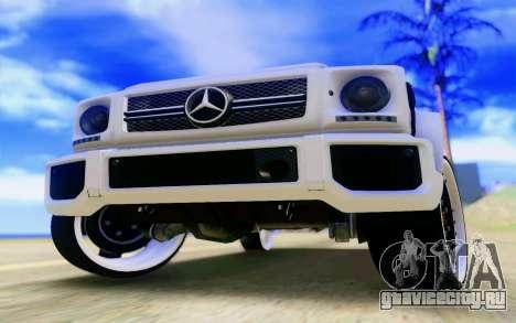 Mercedes-Benz G65 AMG для GTA San Andreas двигатель