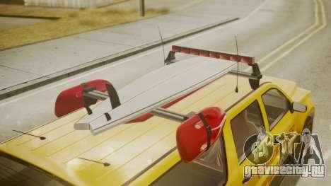 GTA 5 Declasse Granger Lifeguard для GTA San Andreas вид справа
