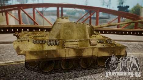 Panzerkampfwagen V Ausf. A Panther для GTA San Andreas вид сзади слева