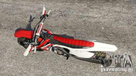 Honda CRF450 2015 для GTA 5 вид сзади