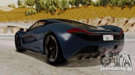 Citric Progen T20 для GTA San Andreas вид слева