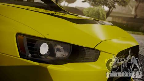 Mitsubishi Lancer Evolution X 2015 Final Edition для GTA San Andreas салон