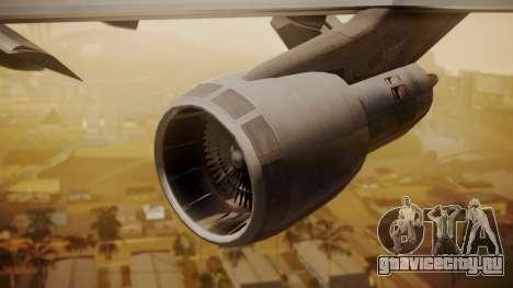 Boeing 747-200 Fly US для GTA San Andreas вид справа