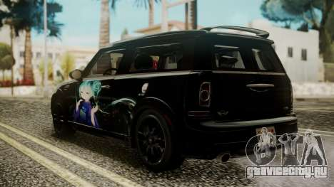 Mini Cooper Clubman 2011 Hatsune Miku Itasha для GTA San Andreas вид слева
