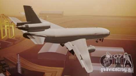 DC-10-30 All-White Livery (Paintkit) для GTA San Andreas вид слева