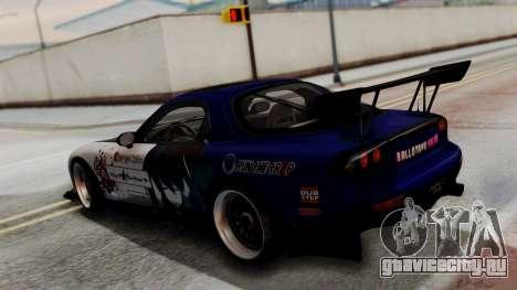 Mazda RX-7 Black Rock Shooter Itasha для GTA San Andreas вид сзади