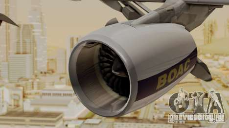 Airbus A380-800 British Overseas Airways Corp. для GTA San Andreas вид справа