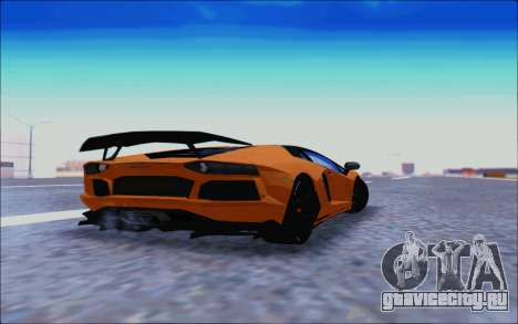 Lamborghini Aventador MV.1 [IVF] для GTA San Andreas вид сзади