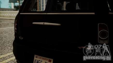 Mini Cooper Clubman 2011 Hatsune Miku Itasha для GTA San Andreas вид сзади
