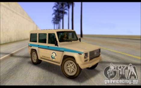 Benefactor Dubsta Jurassic World Paintjob для GTA San Andreas