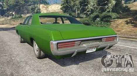 Dodge Polara 1971 v1.0 для GTA 5 вид сзади слева