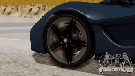Citric Progen T20 для GTA San Andreas вид сзади слева