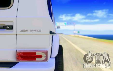 Mercedes-Benz G65 AMG для GTA San Andreas вид снизу