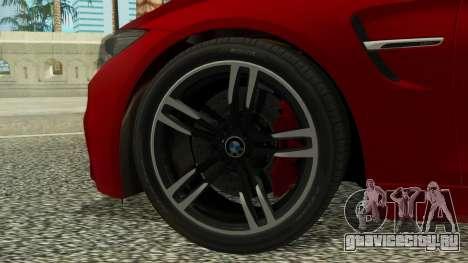 BMW M4 Coupe 2015 для GTA San Andreas вид сзади слева