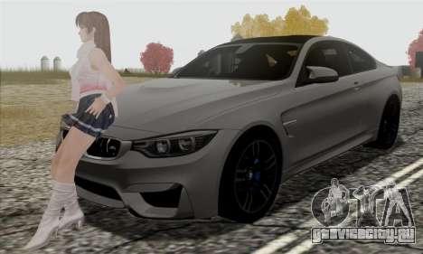 BMW M4 F82 для GTA San Andreas вид снизу