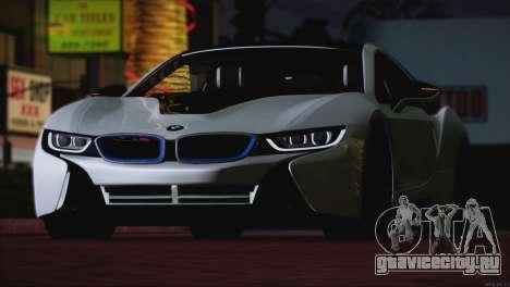BMW i8 Coupe 2015 для GTA San Andreas вид сбоку