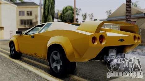 Infernus from Vice City Stories для GTA San Andreas вид слева