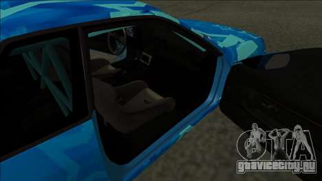 Nissan Skyline R32 Drift Blue Star для GTA San Andreas вид сзади слева
